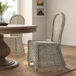Alverta Side Chair in White Washed (Set of 2)   Wayfair North America