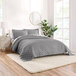 Gap Home Washed Frayed Edge Organic Cotton Quilt, King, Grey   Walmart (US)