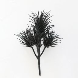 "Plastic Artificial Succulent Pick in Black - 8.5""   Afloral (US)"