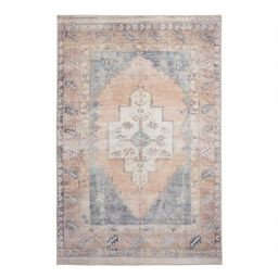 Blush and Blue Persian Style Chelsea Area Rug   World Market