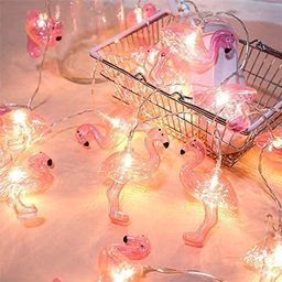 DOMESTAR Pink Flamingo Lights, Outdoor LED String Lights 3m Set of 20 LED Battery Operated Flamin... | Amazon (US)