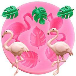 Cute Flamingo Leaf Set Cookie Silicone Mold DIY Topper Decoration Non-stick Premium Cooker Access... | Amazon (US)