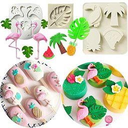 JeVenis 3 PCS Hawaiian Baby Shower Cake Mold Tropical Baby Shower Cookie Cutters Tropical Palm Le... | Amazon (US)