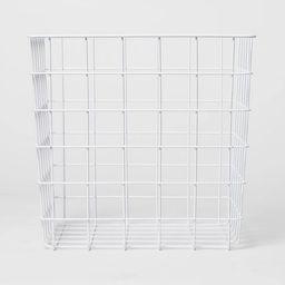 Decorative Baskets Steel White Square - Room Essentials™   Target