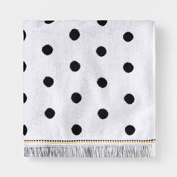 Dot Towel Black & White with SILVADUR™ Antimicrobial Technology - Pillowfort™   Target