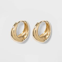 Small Hoop Earrings - A New Day™ Gold | Target