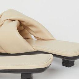 Padded Slip-on Sandals  $29.99 | H&M (US)
