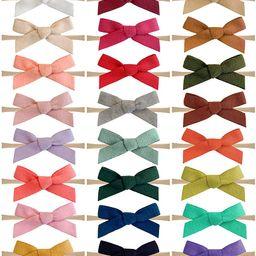 24PCS Baby Nylon Headbands Hairbands Hair Bow Elastics for Baby Girls Newborn Infant Toddlers Kid... | Amazon (US)