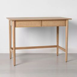 Wood & Cane Desk - Hearth & Hand™ with Magnolia | Target