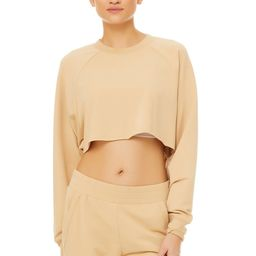 Alo Yoga®   Double Take Pullover Top in Putty, Size: Large   Alo Yoga