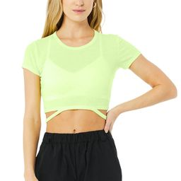 Alo Yoga®   Halo Crop T-Shirt in Neon Lime, Size: Small   Alo Yoga