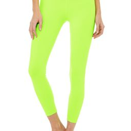 Limited-Edition Exclusive 7/8 High-Waist Neon Airbrush Legging in Acid Lime, Size: Large   Alo Yoga  Alo Yoga