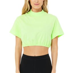 Alo Yoga®   Kick It Crop T-Shirt in Neon Lime, Size: XS   Alo Yoga