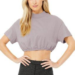 Alo Yoga®   Kick It Crop T-Shirt in Lavender Smoke, Size: XS   Alo Yoga