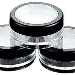 6 Pcs 10g 10ml Empty Plastic Clear Makeup Jar Cosmetic Cream Face Powder Blusher Foundation Conta... | Amazon (US)
