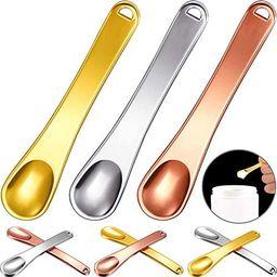 9 Pieces Mini Metal Makeup Spatula Cosmetic Spatula Scoop Cosmetic Facial Cream Spoon for Women G... | Amazon (US)