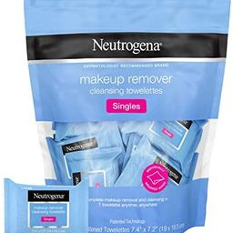 Neutrogena Facial Cleansing Towelette Singles, Daily Face Wipes to Remove Dirt, Oil, Makeup & Wat... | Amazon (US)