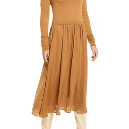 Mixed Media Long Sleeve Dress | Nordstrom