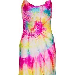 Neon Tie Dye Silk Mini Dress | Saks Fifth Avenue