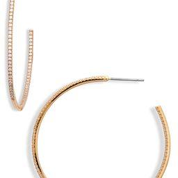 Pavé Cubic Zirconia Hoop Earrings   Nordstrom