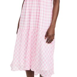 ENGLISH FACTORY Gingham Print Midi Dress | Shopbop