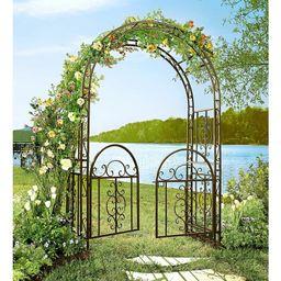 Montebello Iron Arbor with Gate   Wayfair North America