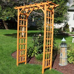 Sharleen Outdoor Garden Wood Arbor   Wayfair North America