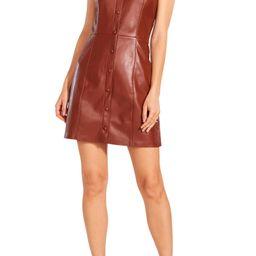 BB Dakota x Steve Madden Lima Faux Leather Mini Shirtdress   Nordstrom