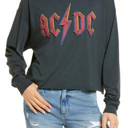 AC/DC Crop Graphic Sweatshirt   Nordstrom