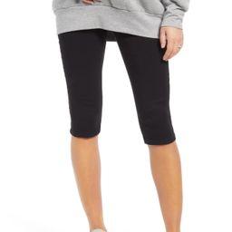 Women's 1822 Denim Cozy Athleisure Pull-On Maternity Biker Shorts, Size 24 - Black   Nordstrom