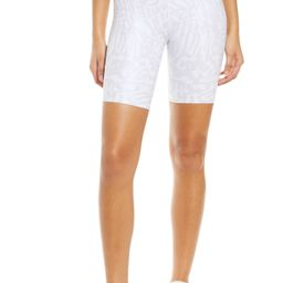 Plus Size Women's Good American Animal Print Bike Shorts, Size 5 (fits like 18-20US / 14-16W) - Whit   Nordstrom