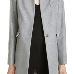 Straight Tailored Wool & Cashmere Blend Coat | Nordstrom