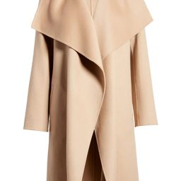 Cascade Collar Double Face Wool & Cashmere Coat | Nordstrom