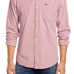 Maxx Tailored Fit Microcheck Stretch Button-Down Shirt | Nordstrom