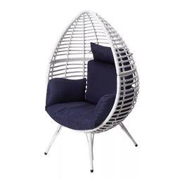 Wicker Patio Egg Chair White - Peaktop   Target