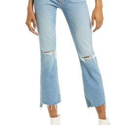 The Insider High Waist Crop Step Fray Hem Jeans | Nordstrom