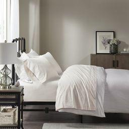 Comfort Classics Peached Percale 100% Cotton Sheet Set, Ivory, King   Walmart (US)