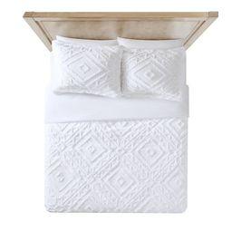 Better Homes and Gardens Chenille 3 Piece Duvet Cover Set, King, White   Walmart (US)