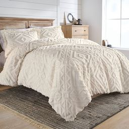 Better Homes and Gardens Chenille 3 Piece Duvet Cover Set, King, Ivory   Walmart (US)