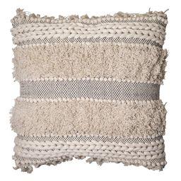 Better Homes & Gardens, Fringe & Textured Decorative Throw Pillow, 20x20, Natural   Walmart (US)