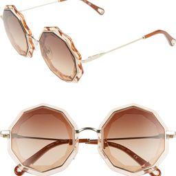 52mm Round Sunglasses | Nordstrom Rack