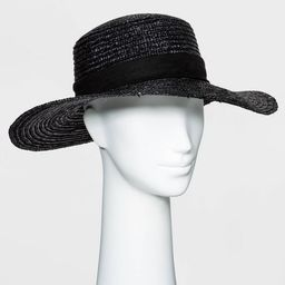 Women's Flat Top Wheat Straw Boater Hat - A New Day™ | Target