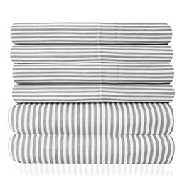 1500 Thread Count Egyptian Quality Microfiber Deep Pocket Bedroom Classic Stripe Sheet Set   Walmart (US)