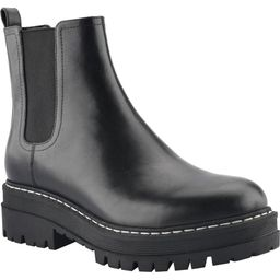Slide 1 of 2MARC FISHER Padmia Chelsea Boot, Main, color, BLACK/ BLACK LEATHERSize InfoTrue to si... | Nordstrom