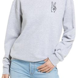 Peace Embroidered Sweatshirt | Nordstrom