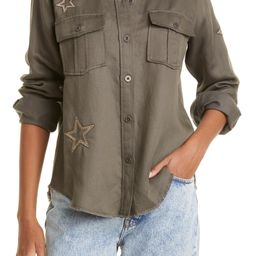 Loren Star Embroidered Military Twill Shirt Jacket   Nordstrom