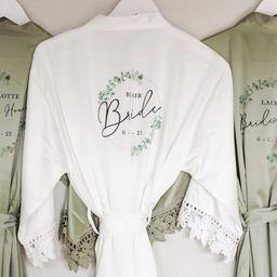 Personalised Bridesmaid Robes, Lace Bridal Robe, Personalised Bridesmaid Gifts, Wedding Dressing ...   Etsy (US)