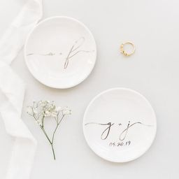 BESTSELLER ENGAGEMENT Gift Ideas, BRIDAL Gift Initial Ring Dish, Gift for Bride and Groom, Engage...   Etsy (US)