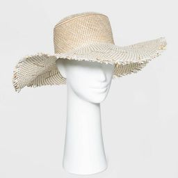Women's Wide Brim Straw Boater Hat with Fringe - Universal Thread™ | Target