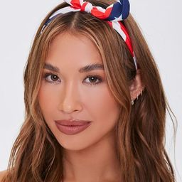 American Flag Knotted Bow Headband | Forever 21 (US)